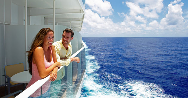 Adult couple cruises